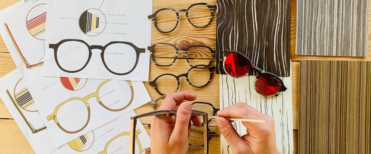 Mou Les lunettes en bois